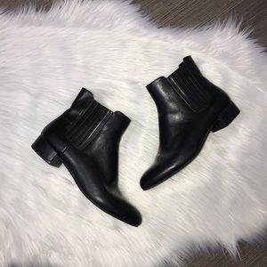 Marc Fisher Black Kellen Leather Chelsea Booties